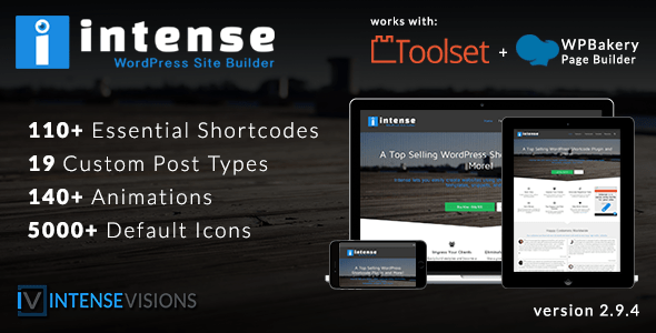 Intense v2.9.6 - Shortcodes and Site Builder for WordPress