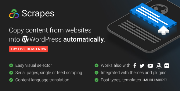 Scrapes v1.4.4 - Web scraper plugin for WordPress