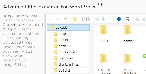 File Manager Plugin For WordPress v7.3