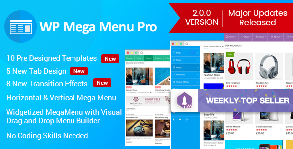 WP Mega Menu Pro v2.1.3.2 - Responsive Mega Menu Plugin