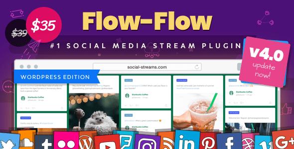 Flow-Flow v4.0.3 – WordPress Social Stream Plugin