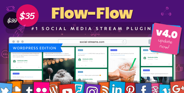 Flow-Flow v4.1.6 - WordPress Social Stream Plugin