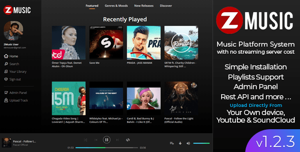 Zuz Music v1.2.3 – Advance Music Platform System