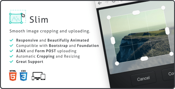 Slim Image Cropper, Responsive Uploading and Ratio Cropping Plugin v4.19.0
