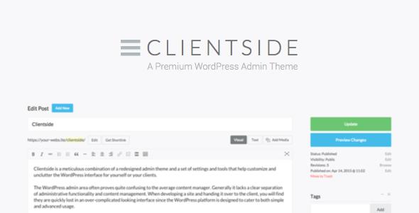 Clientside v1.13.2 - WordPress Admin Theme