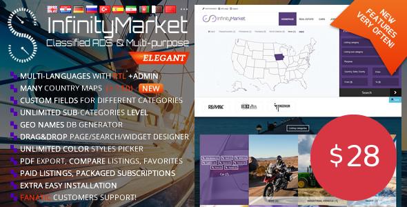 Infinity Market v1.6.4 – Classified Ads Script