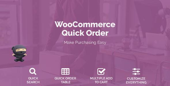 WooCommerce Quick Order v1.1.0
