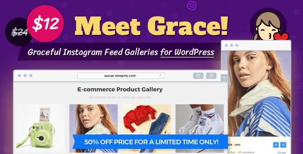 Instagram Feed Gallery – Grace for WordPress v1.1.6
