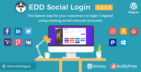 Easy Digital Downloads – Social Login v2.1.4