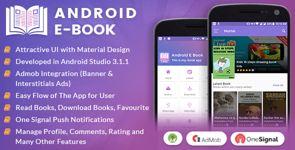 Android E-Book App with Material Design