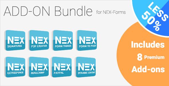Add-on Bundle for NEX-Forms v7.2 - WordPress Form Builder