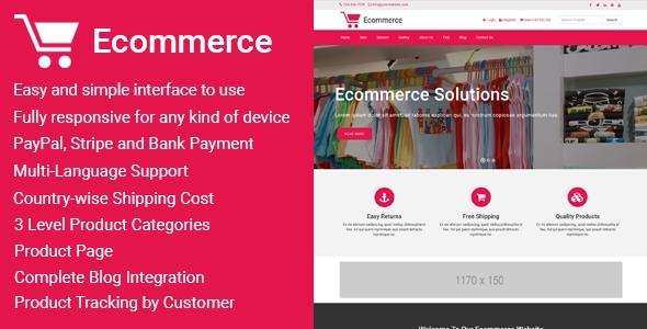Ecommerce v1.5 – Responsive Ecommerce Business Management Script