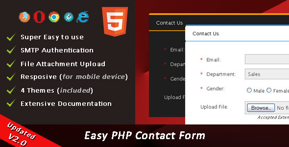 Easy PHP Contact Form Script v2.3