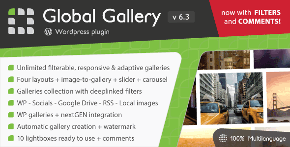 Global Gallery v6.3.1 - WordPress Responsive Gallery