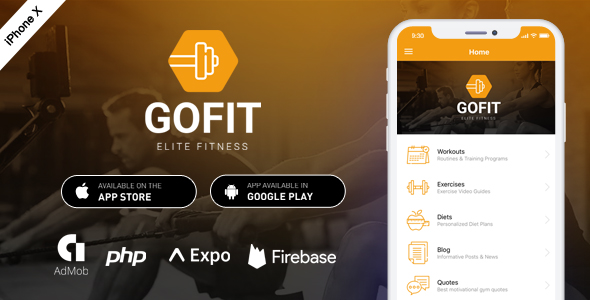 GoFit - Complete React Native Fitness App + Backend