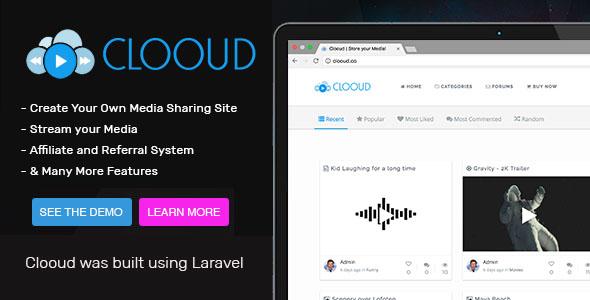Clooud v1.4 - Premium Media Sharing Script