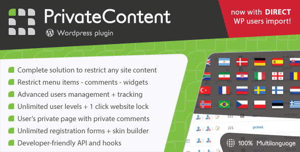 PrivateContent v7.1.3 - Multilevel Content Plugin