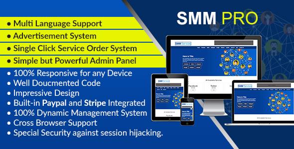 SMM Pro - Dynamic Social Media Marketing Services Script