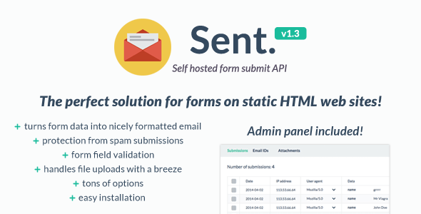 Self hosted form submit API v1.3