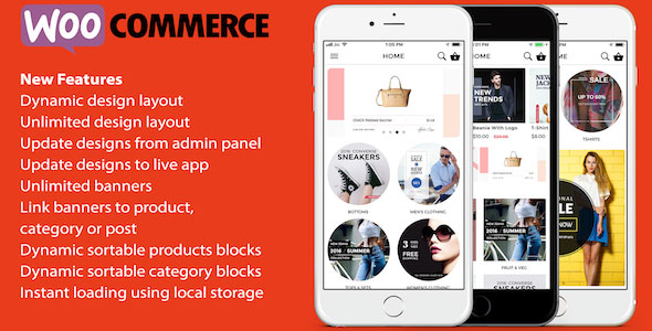 ionic 3 App for WooCommerce v1.7