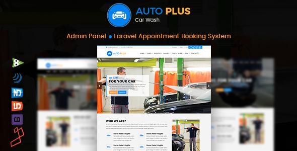 Auto Plus – Laravel Car Wash Booking