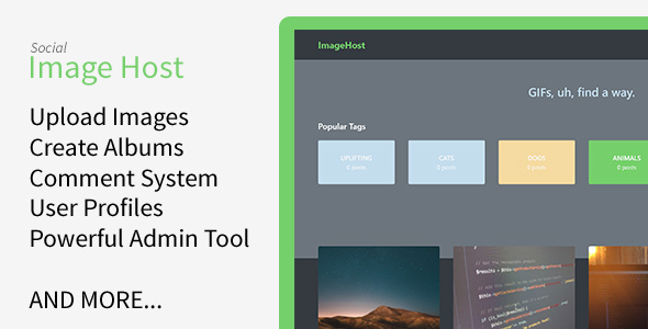 ImageHost v1.1.0 – Social Image Sharing