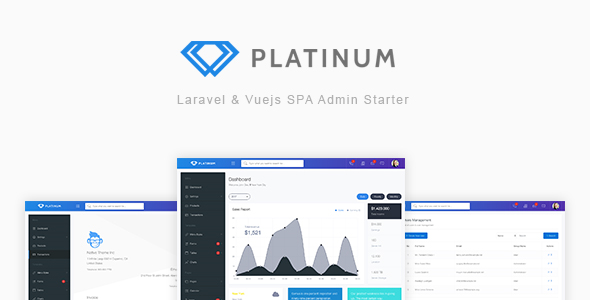Platinum - Laravel & Vuejs SPA Admin Starter