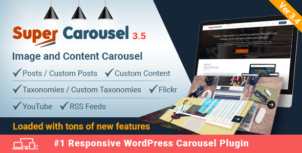 Super Carousel v3.5.5 – Responsive WordPress Plugin