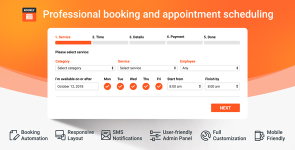Bookly PRO v17.2 – Appointment Booking and Scheduling Software System