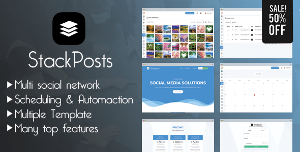 Stackposts v4.4 – Social Marketing Tool – nulled