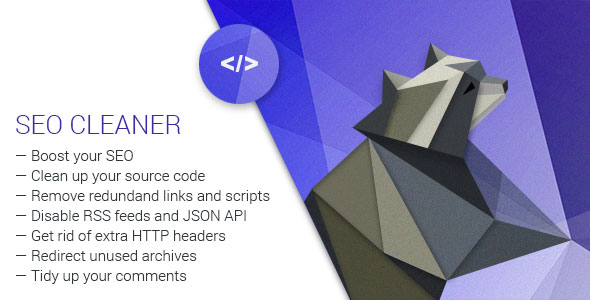 SEO Cleaner v1.4 - WordPress Plugin for Site Clean Up