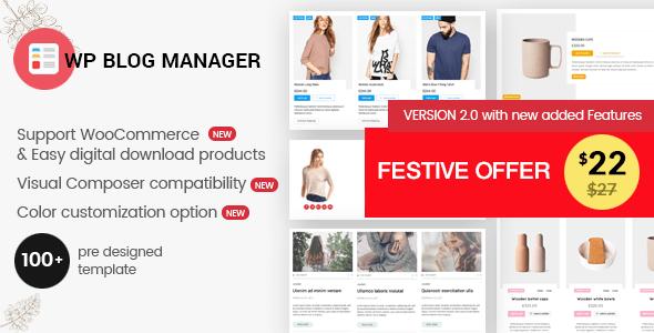 WP Blog Manager v2.0.1 - Plugin to Manage Design Blog