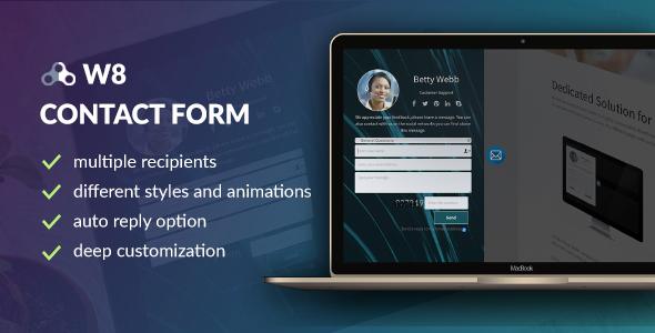 W8 Contact Form v1.5.6 - WordPress Contact Form Plugin