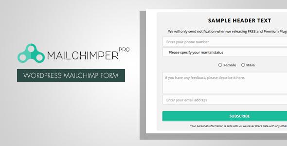 MailChimper PRO v1.8.1 - WordPress MailChimp Signup Form Plugin