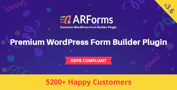 ARForms v3.6 - WordPress Form Builder Plugin