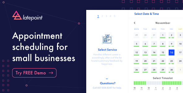 LatePoint v2.1.2 – Appointment Booking & Reservation plugin