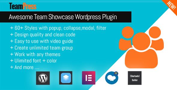 TeamPress v1.2 – Team Showcase plugin