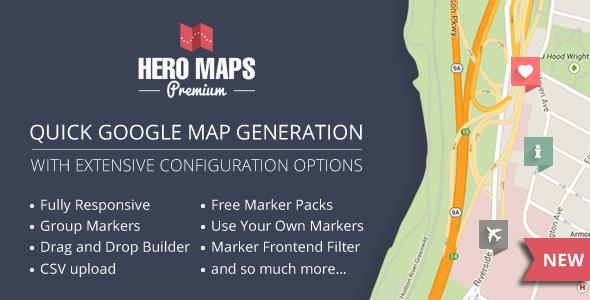 Hero Maps Premium v2.1.6 – Responsive Google Maps Plugin