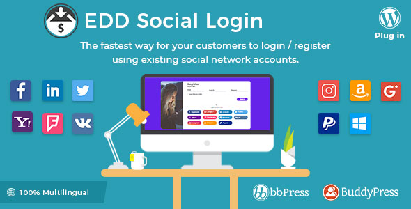 Easy Digital Downloads – Social Login v2.1.8