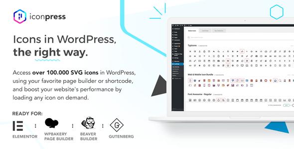 IconPress Pro v1.4.2 - Icon Management for WordPress