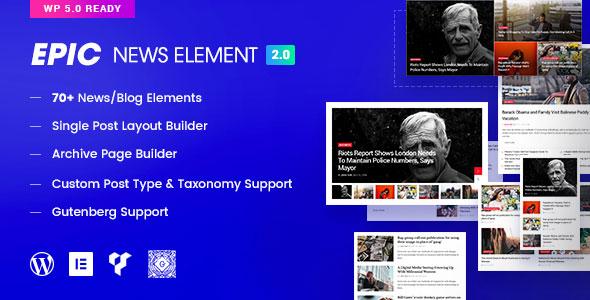Epic News Elements v2.1.0