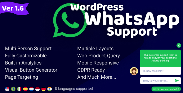 WordPress WhatsApp Support v1.6.5