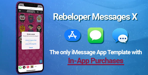 Rebeloper Messages v12 – iMessage App in Swift 4.2, iOS 12 and Xcode 10 ready