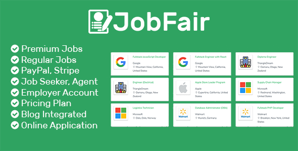 JobFair – Premium Laravel PHP Job Board Script