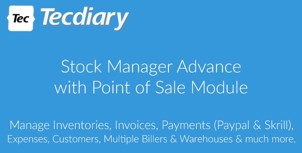 Stock Manager Advance with Point of Sale Module v3.4.11 – nulled