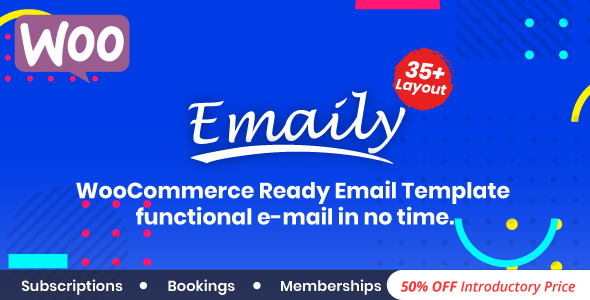 Emaily v1.0 – WooCommerce Responsive Email Template