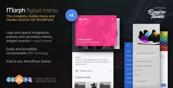 Morph v2.2 - Flyout Mobile Menu for WordPress