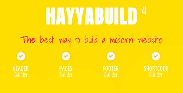 HayyaBuild v4.0 - WordPress Builder