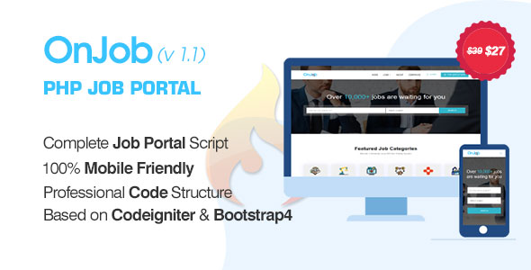 OnJob v1.1 – PHP Job Portal Application
