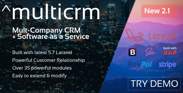 Multicrm v2.1 - Powerful Laravel CRM +Front End Software As A Service